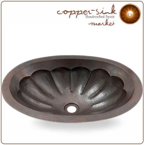 19 copper handmade bathroom oval scallop sink copper sink com
