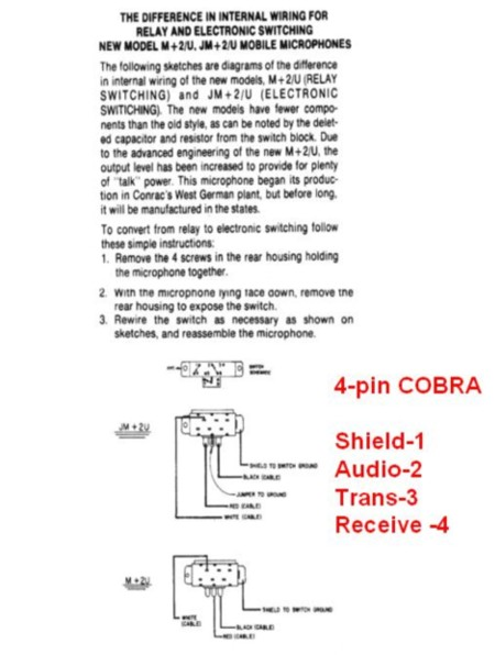 cb radio microphone wiring diagram  4 wire diagram hot tub