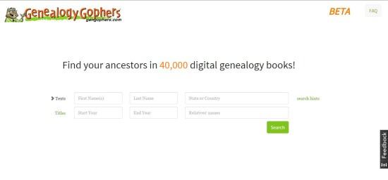 Genealogy Gophers: gengophers.com