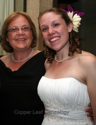 My mom and me at my wedding