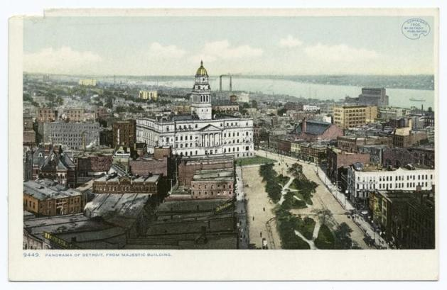 Panorama from Majestic Building, Detroit, Mich. From The New York Public Library