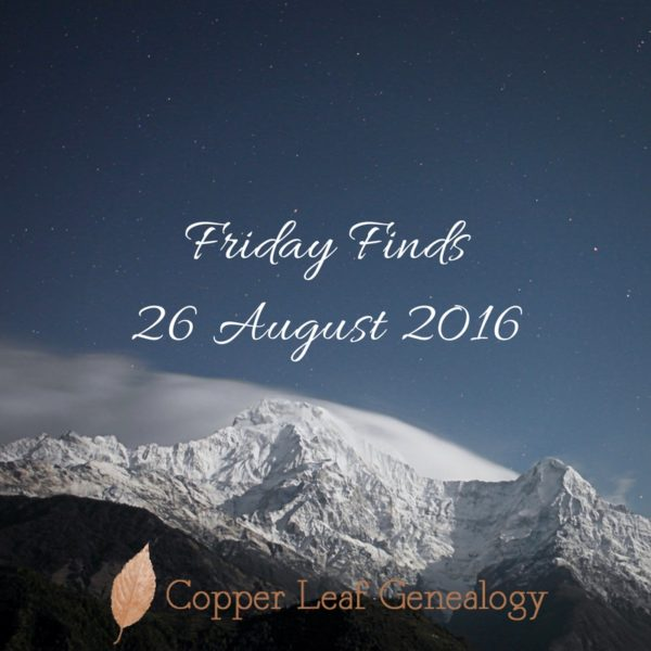 Friday Finds26 August 2016