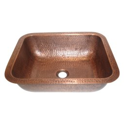 Rectangular Hammered Copper Sink
