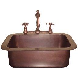 Single Well Drop-In Copper Sink