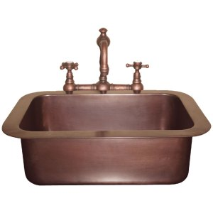 Single Well Drop-In Copper Sink