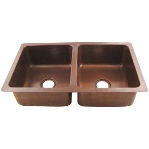 Copper Double Bowl Kitchen Sink