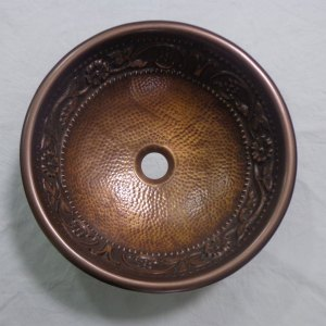 Copper Sink Embossed Hammered - Coppersmith Creations