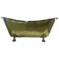 Clawfoot Brass Bathtub Hammered Exterior,  Tub Size(mm): 1828.80 x 812.80 x 736.60