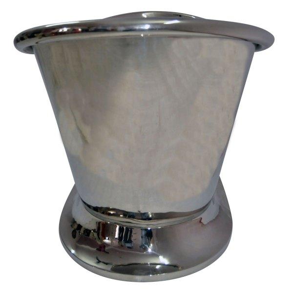 Nickel Finish Curved Pedestal Copper Bathtub - Coppersmith Creations