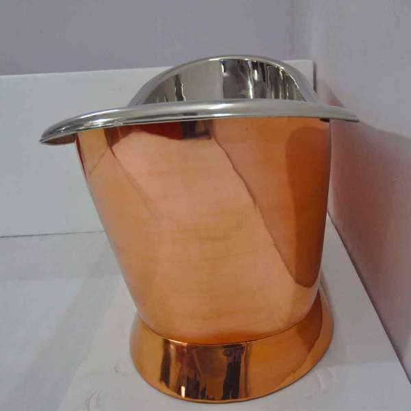 Copper Pedestal Tub Nickel Interior - Coppersmith Creations