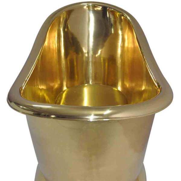 Pedestal Brass Bathtub - Coppersmith Creations