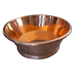 Round Copper Bathtub Shining Copper Finish