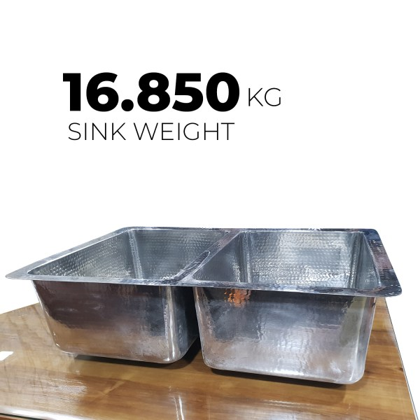 Stainless Steel Kitchen Sink Front Apron Hammered Double Bowl