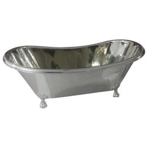 Clawfoot Copper Bathtub Full Nickel Finish