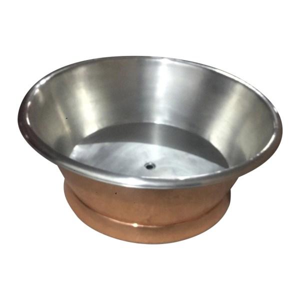 Round Copper Tub Inside Tin Outside Polish Copper