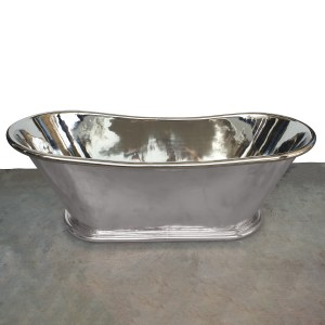 Copper Bathtub Nickel Finish Inside & Outside