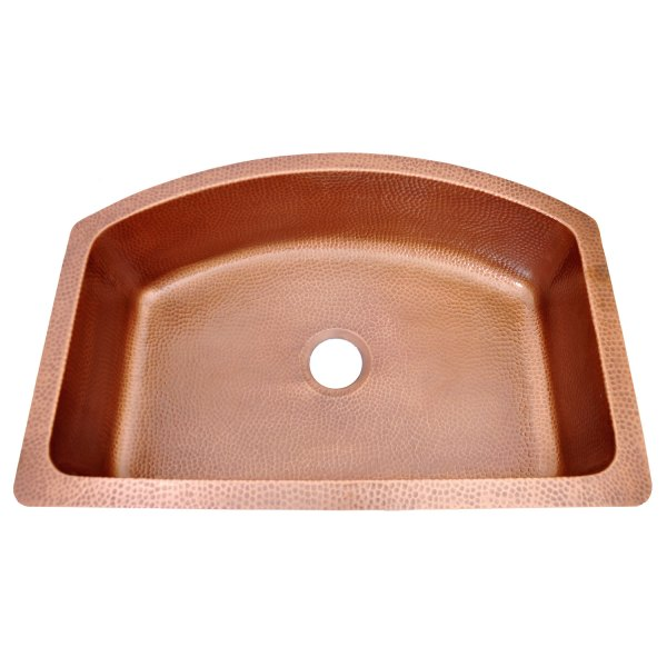 D-Shape Copper Kitchen Sink