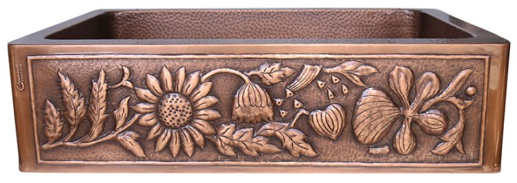 Single Bowl Sunflower Design Front Apron