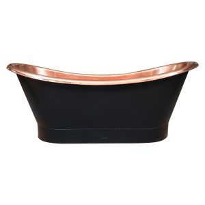 Roll Top Copper Bathtub Inside Polish Copper Outside Black