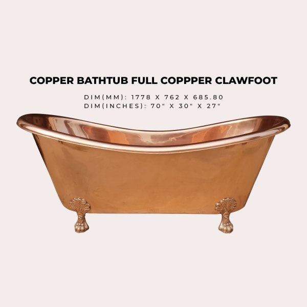 Clawfoot Copper Bathtub & Sink