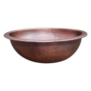 Oval Copper Sink Medium Antique 20 x 15.50 x 6 inch