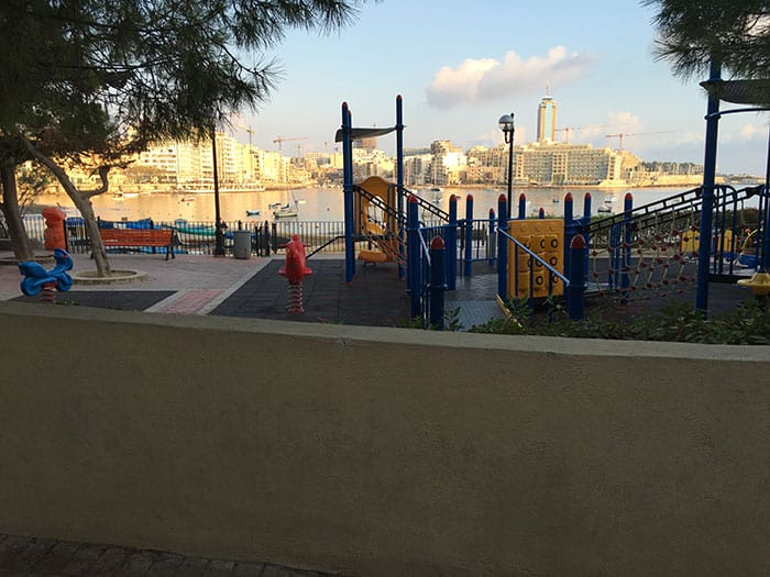 Playground along the prominade