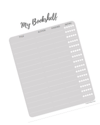 bookshelf printable