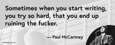 quote van Paul McCartney over copywriting
