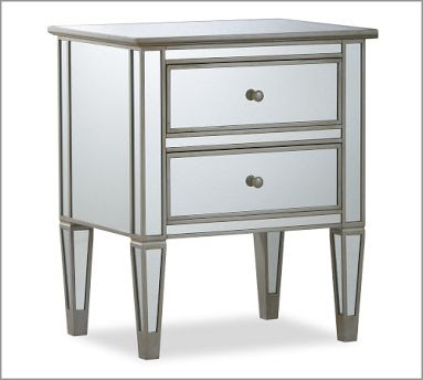 Pottery Barn Park Mirrored Bedside Table Copycatchic