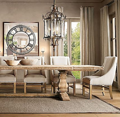 Restoration Hardware Salvaged Trestle Dining Table