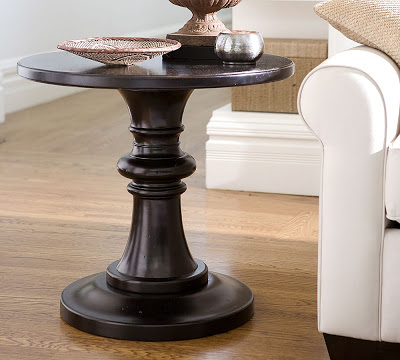 Pottery Barn Rustic Pedestal Accent Table