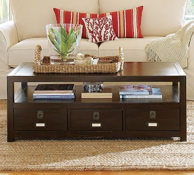 Pottery Barn Rhys Coffee Table & Pottery Barn Bedford Project Table Set - copycatchic