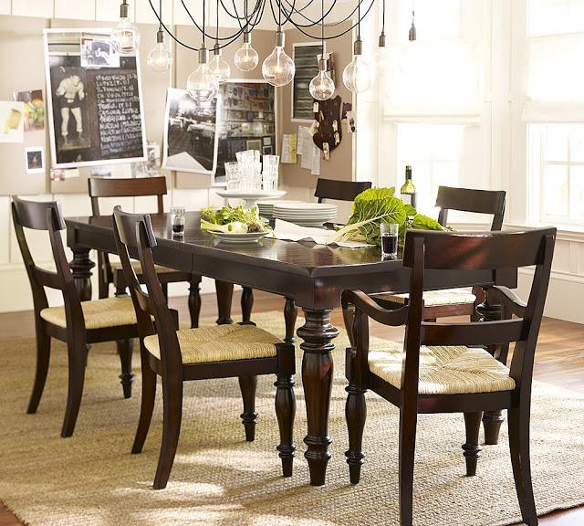 Pottery Barn Montego Turned Leg Dining Table