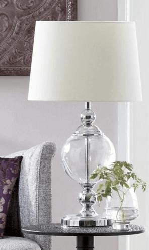 Restoration Hardware Crystal Ball Urn Table Lamp Copycatchic