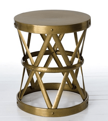 Marvelous Arteriors Costello Antique Brass Side Table