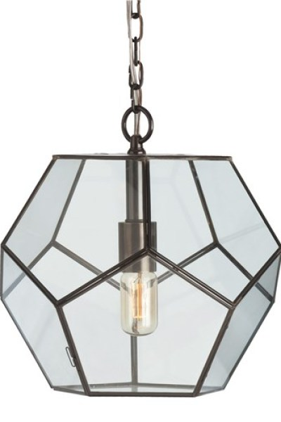 clear glass prism pentagon pendant light. Arteriors Tenley Faceted Pendant Clear Glass Prism Pentagon Light E