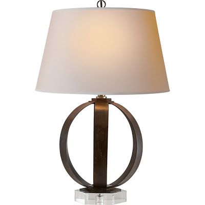 Awesome Visual Comfort E F Chapman Metal Banded Table Lamp