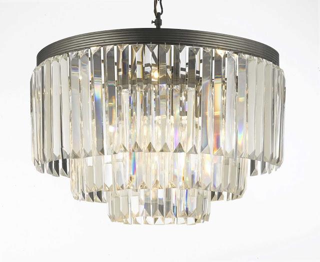 Restoration Hardware 1920 S Odeon Glass Fringe Chandelier 1 995 Crystal