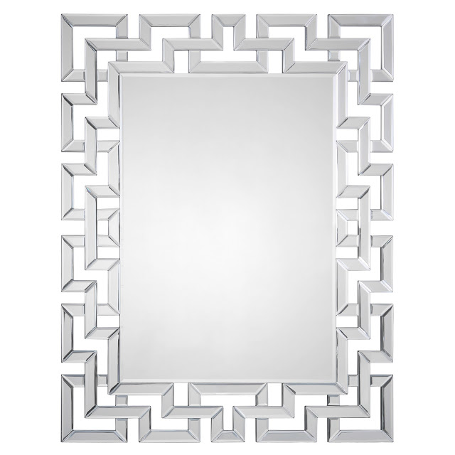 Zinc Door Mirrored Greek Key Mirror  sc 1 st  copycatchic & Zinc Door Bamboo Silver Leaf Mirror - copycatchic pezcame.com