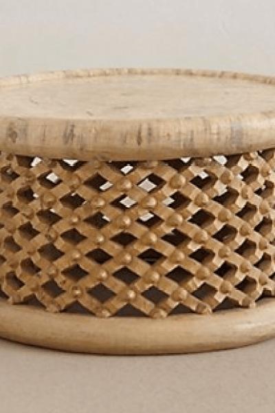 Anthropologie Lattice Drum Coffee Table Copycatchic - Round lattice coffee table