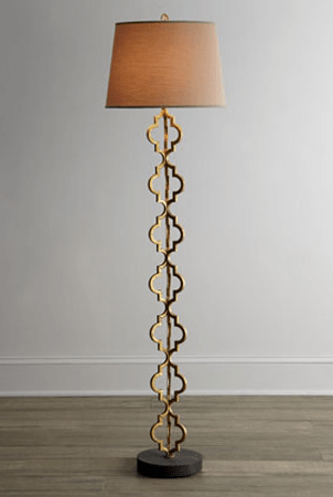 horchow regina andrews quatrefoil floor lamp - Pineapple Lamp