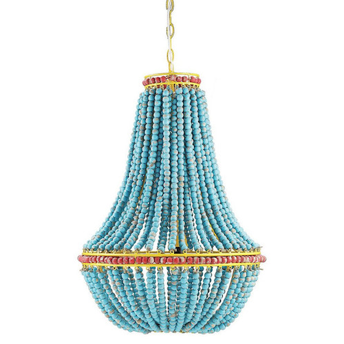 Lighting Connection Blue Beaded Chandelier
