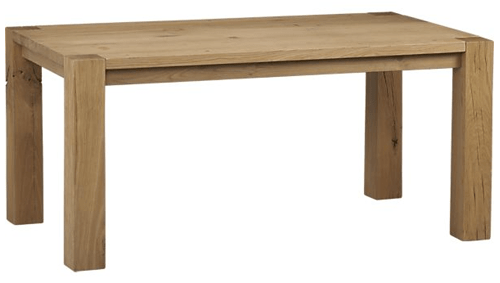 Trend Crate and Barrel Big Sur Natural Dining Table