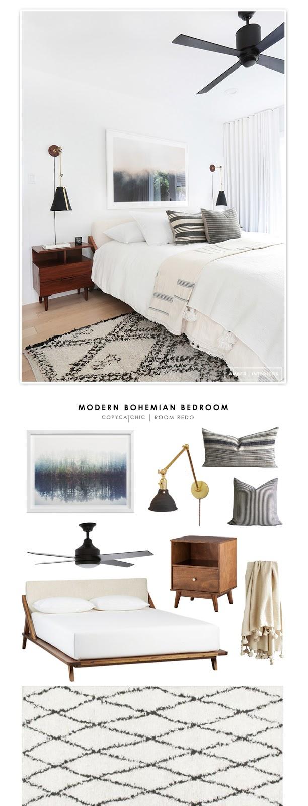 Copy Cat Chic Room Redo | Modern Bohemian Bedroom ... on Modern Boho Bedroom  id=54617