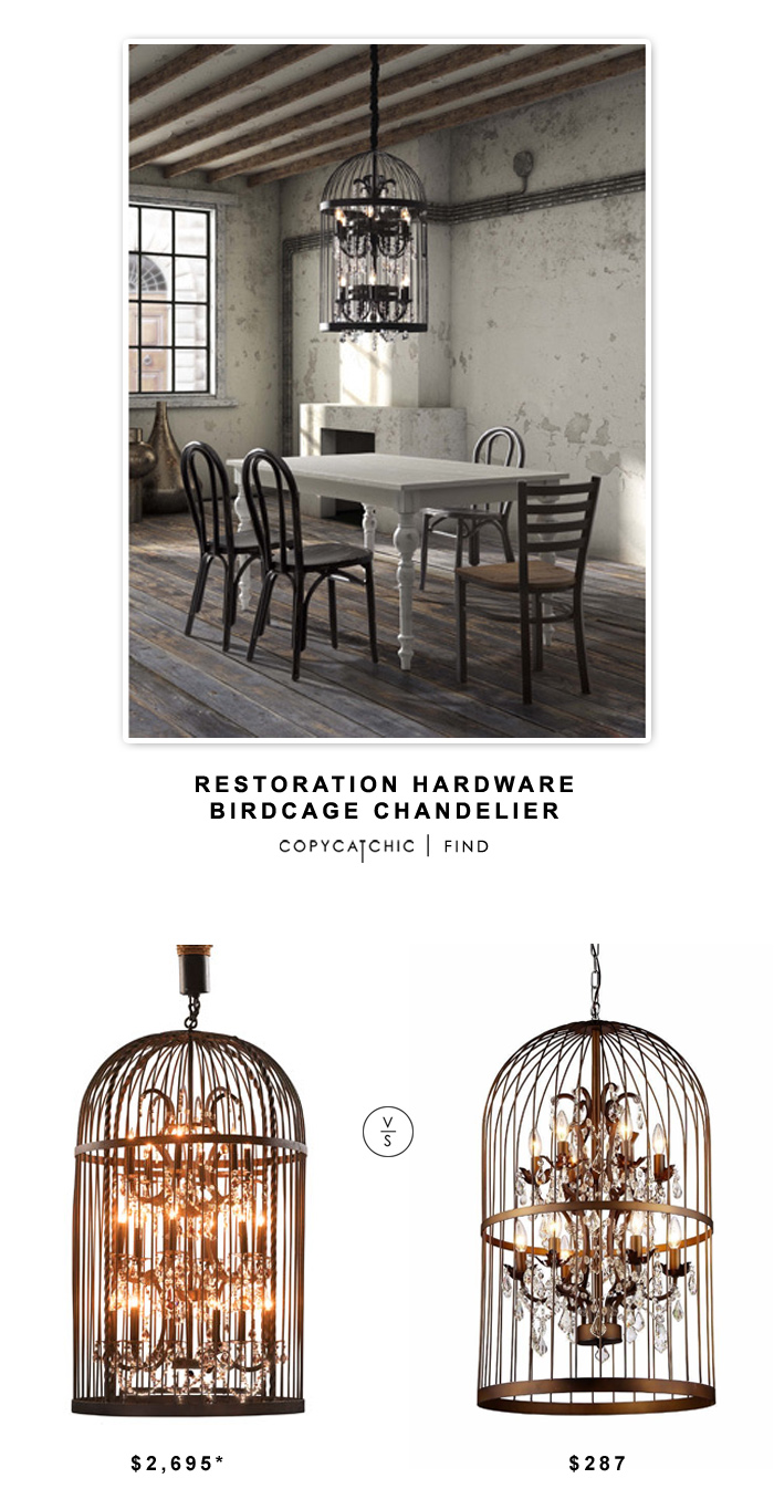Amazing Restoration Hardware Birdcage Chandelier