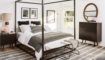 Copy Cat Chic Room Redo Masculine Striped Bedroom