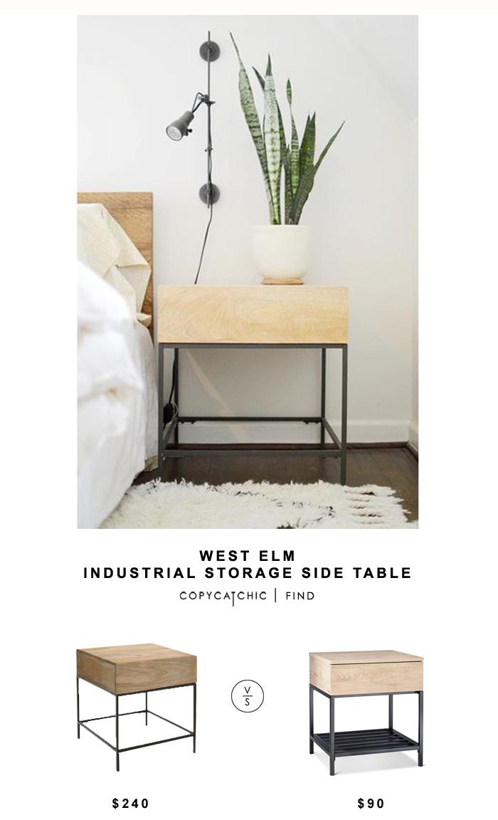 west elm industrial storage side table