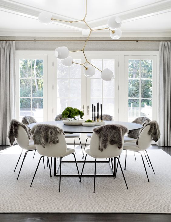 Copy Cat Chic Room Redo | Modern Black And Cream Dining Room