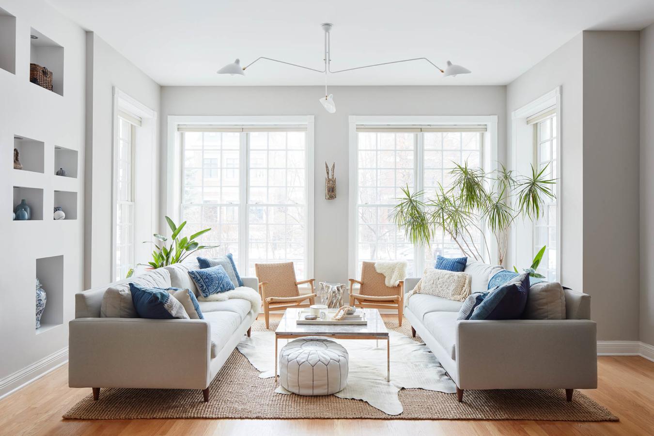 Copy Cat Chic Room Redo | Modern Bohemian Living Room ... on Modern Boho Room  id=28424