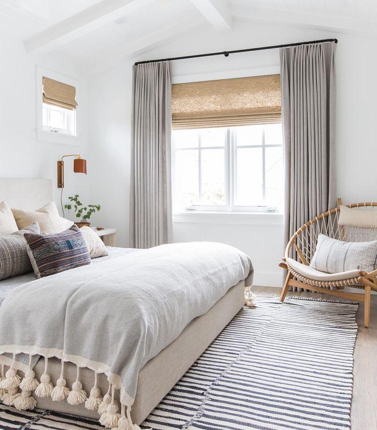 Designer Boho Bedroom Redo On a Budget - copycatchic on Master Bedroom Curtain Ideas  id=25041
